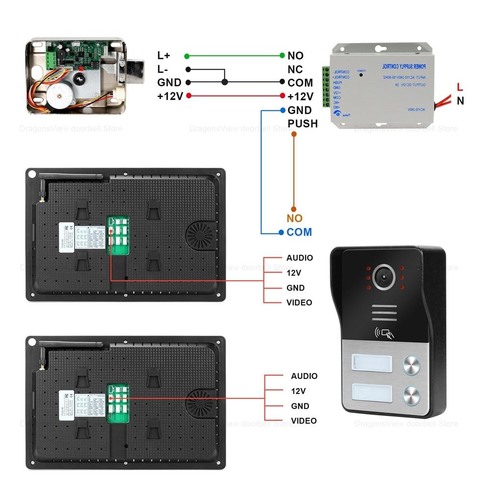 WIFI Video Intercom 2/3/4 Apartments TUYA Smart Door Intercom System Home 10 Inch Touch Screen  RFID Video Doorbell Camera 1080P enlarge
