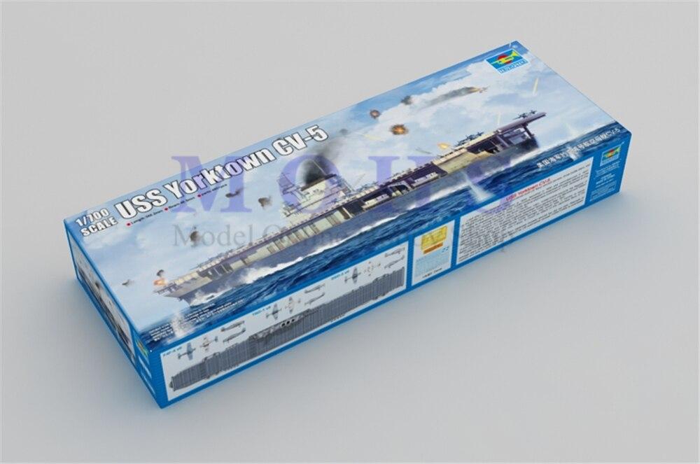 trumpeter scale ship 1/700 06707 USS Yorktown CV-5 assembly model kits  scale ship modle building scale battle ship kits