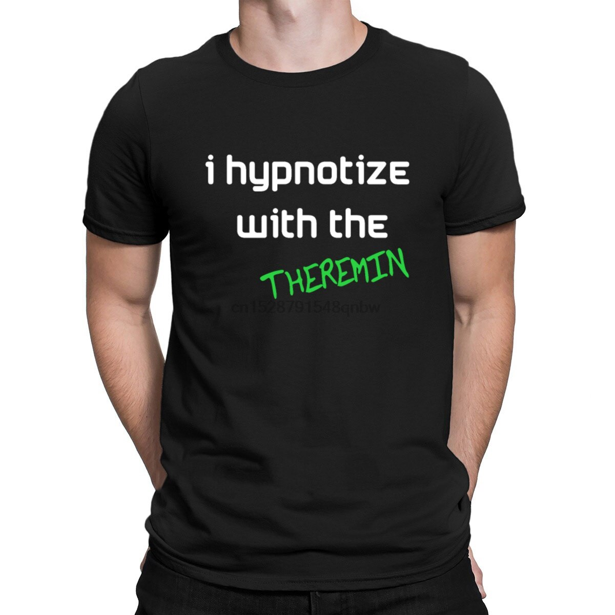 Camiseta orgánica de Theremins de manga corta de moda S-3xl de Fitness personalizada camiseta de Color sólido de la vendimia orgánica Theremin