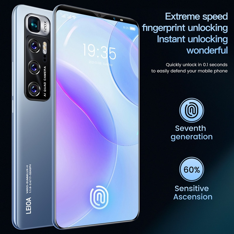 New Cell Phone Xiomi Note 10 Android Smart Phone 6GB 128GB Telephone 4800mAh Battery 6.1 inch 4G 5G Global Version Mobile Phones enlarge