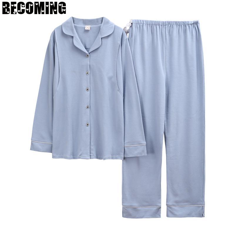 Cotton Pajamas Pregnant Women Nurse Sleepwear Pregnant Nightwear Big Size Maternity Sleepwear Spring and Winter Nursing Pajamas enlarge