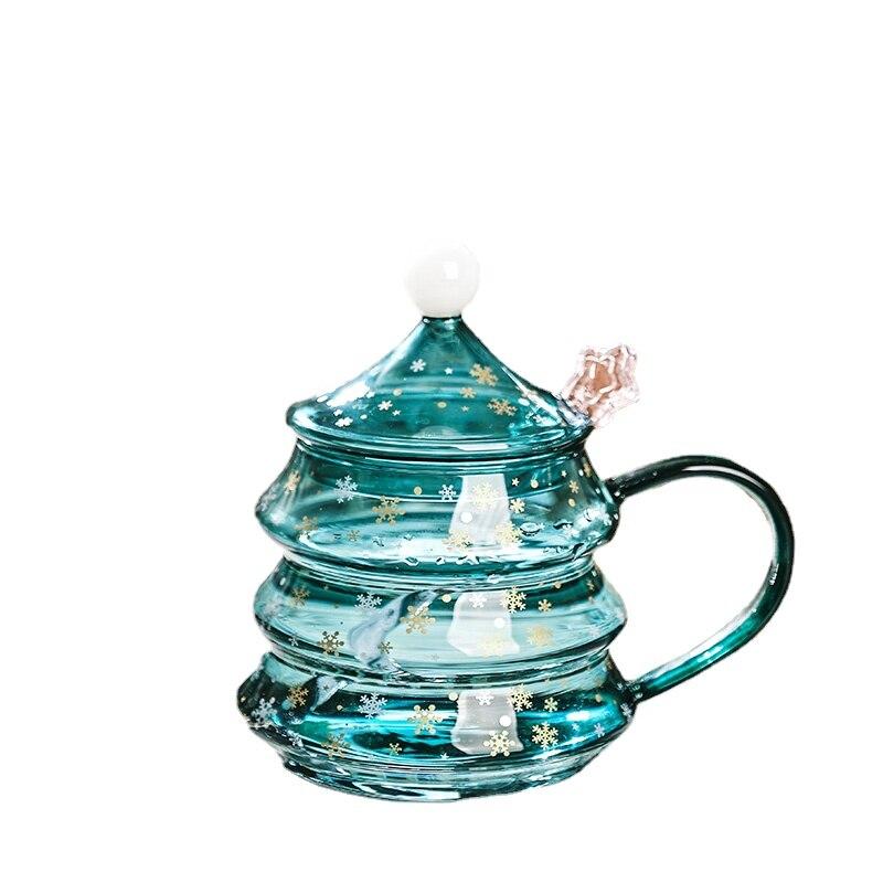 Taza De Navidad transparente con tapa, tazas creativas De desayuno, taza De avena multifunción, jugo De amigos, Cupulas De Cristal D