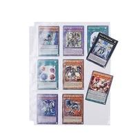 10pcs Wallet Album Page Collection 90 Pockets Trading Game Card Sets Storage Card Storage Bag Home Storage Bag