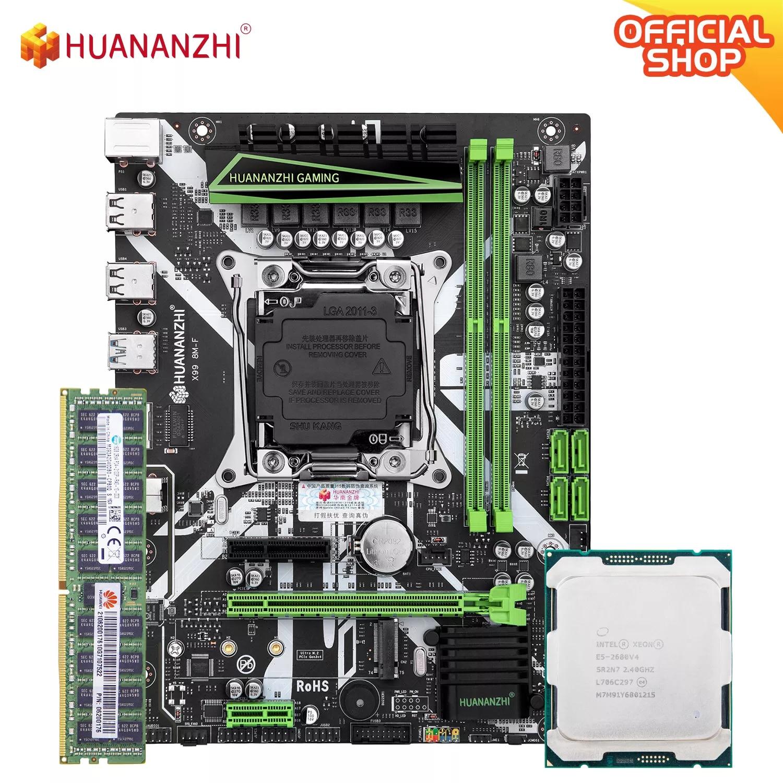 HUANANZHI X99 8 متر F X99 اللوحة الأم مع إنتل سيون E5 2680 V4 مع 1*16 جرام DDR4 RECC الذاكرة كومبو عدة مجموعة NVME USB3.0 الخادم