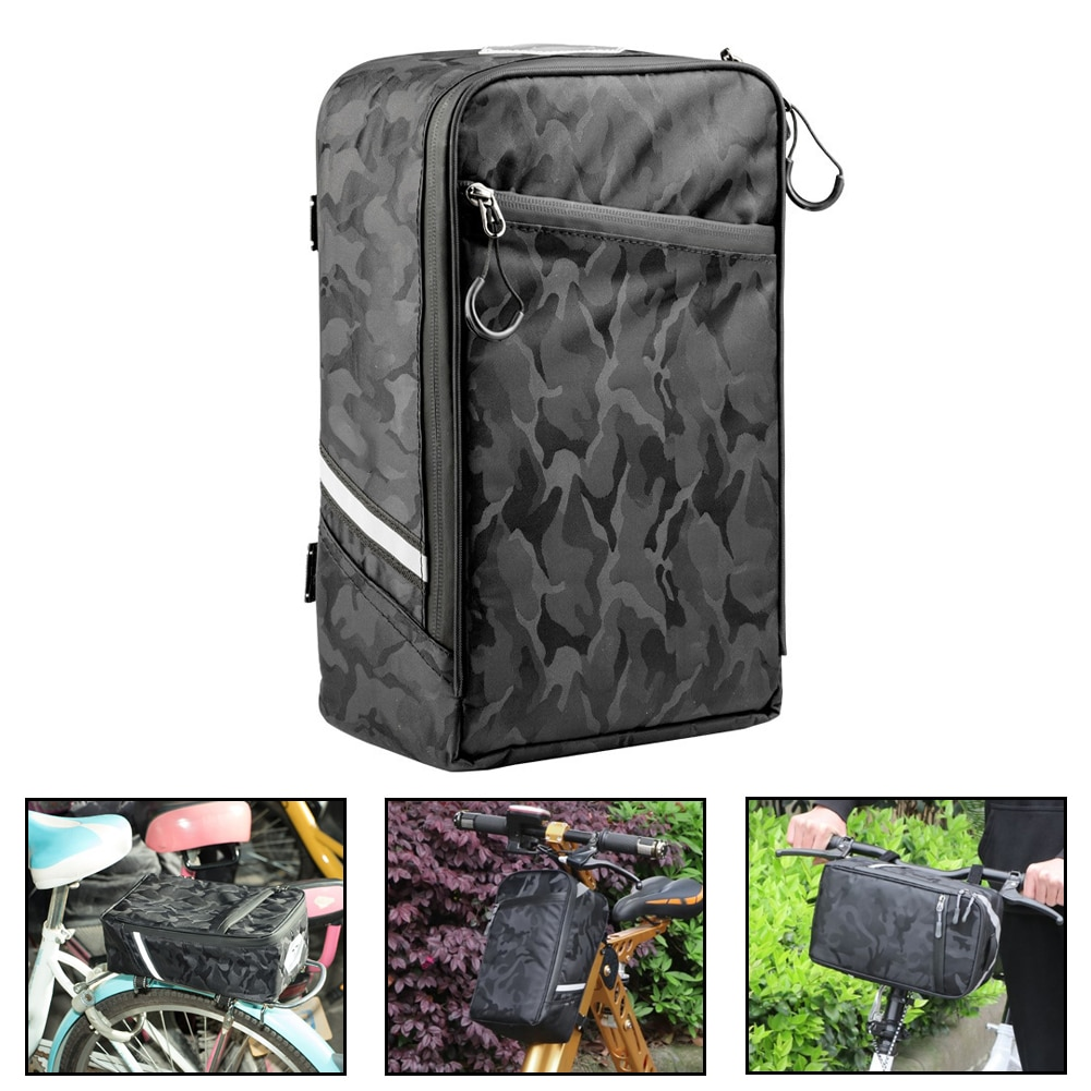 Bolsas de maletero de bicicleta de carretera de montaña, bolsas de bicicleta de camuflaje, soporte trasero doble lateral, asiento trasero, portaequipajes, deporte al aire libre