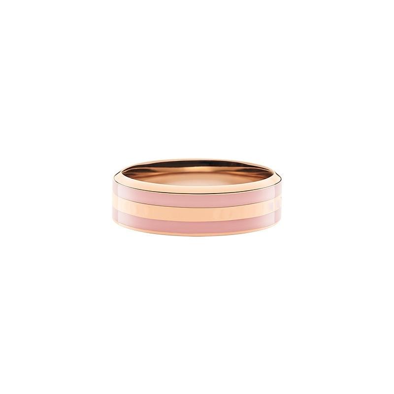 Moda titânio aço homem e mulher casal rosa ouro cristal da bulgária versátil rosa punk hoe piloto dw anel