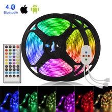 Intégré Mic LED bande musique Bluetooth contrôleur bande lumineuse néon bande 5050 LED lumières avec LED dalimentation LED armoire lumière