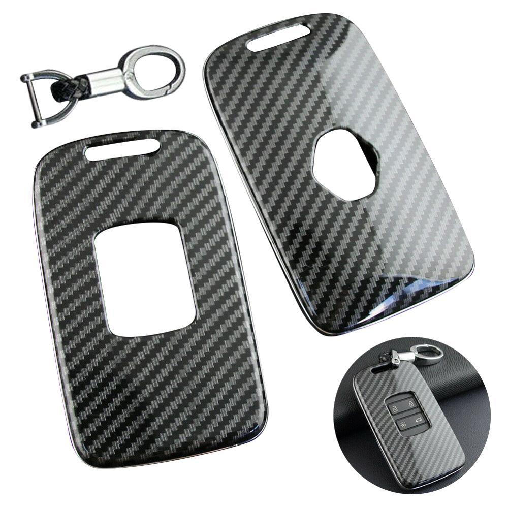 New Design Carbon Fiber Car Key Case Keychain Case For Renault Kadjar Megane Koleos accessories Wholesale Quick delivery CSV