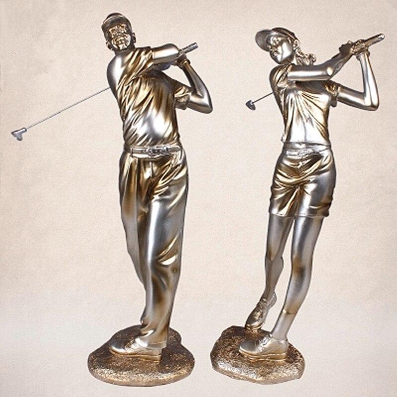 Figuras de escultura de Golf de estilo europeo, mueble de TV para sala de estar, mueble de vino, librería de la Oficina, decoración a385