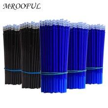 Ensemble de stylos à encre effaçable et lavable, 50 + 3 pièces, 0.5mm, poignée magique, gel, recharge tige, bleu, noir, étudiant, kawaii, papeterie