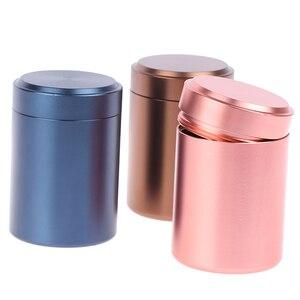 1 шт., металлические алюминиевые Герметичные банки, портативные дорожные чайные герметичные запахи, контейнер, банка для хранения, 65*45 мм