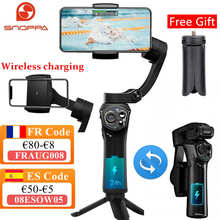 Snoppa Atom Foldable Pocket Sized 3 axis Smartphone Handheld Gimbal Stabilizer for GoPro Smartphones, Wireless Charging iPhone12