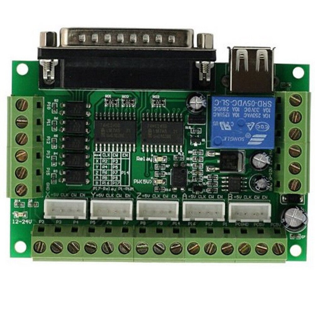 Controlador de módulo de transmisión CNC Placa de ruptura estable paso a paso reemplazo de controladores 5 ejes adaptador Anti retroceso para Mach3