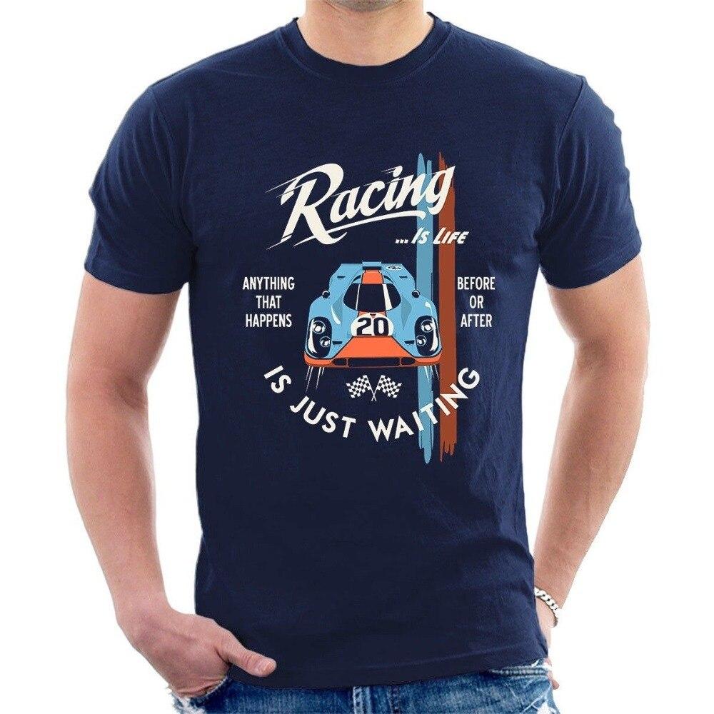 2020, camiseta Steve Racing is Life Le Mans, camiseta para adultos, camiseta Legendary Race 1968