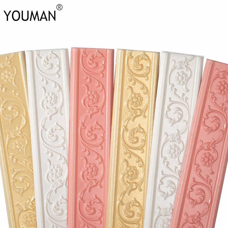 3d em relevo wallpapers fronteira linha da cintura sala de estar quarto rodapé auto adesivo papel de parede bordas espuma fundo rodapé