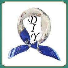 Luxury brand love CC design square silk scarf ladies fashion wrap classic camellia fashionable scarf