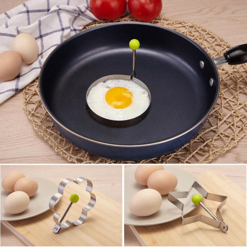 De acero inoxidable 5 Estilo panqueque de huevo frito Shaper molde para...
