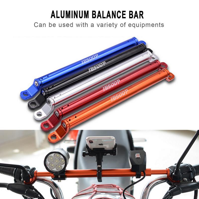 Barra de regulador de manillar de extensión de aleación de aluminio para motocicleta, bibcock para coche eléctrico, soporte de faro multifunción, piezas para motocicleta