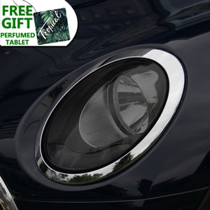 2 Pcs Car Headlight Protective Film Restoration Transparent Black TPU Sticker For MINI Clubman F54 JCW Cooper S Accessories