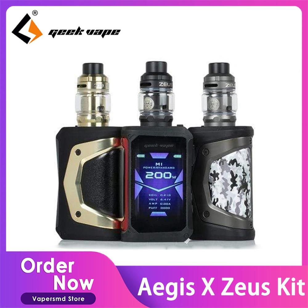 Original Geekvape Aegis X Zeus Kit Electronic Cigarette 200W Box Mod with 5ml Zeus Sub ohm Tank Vapo