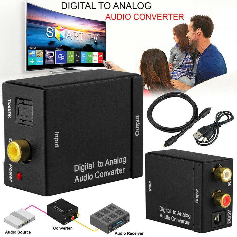 Цифро-аналоговый аудио конвертер адаптер коаксиальный Оптический Toslink RCA R/L Оптический для RCA 3,5 мм разъем