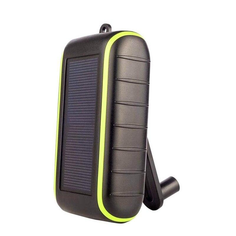 Banco de energía Solar móvil manivela de mano fuente de alimentación cargador USB para celular de gran capacidad batería externa 8000MAh