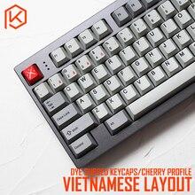 Kprepublic 139 Vietnamese Wortel Vietnam Lettertype Taal Cherry Profiel Dye Sub Keycap Pbt Voor Gh60 Xd60 Xd84 Cospad Tada68 87 104