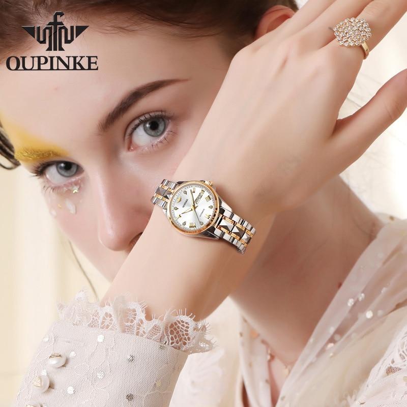 New women's watch waterproof automatic mechanical watch ladies watch women