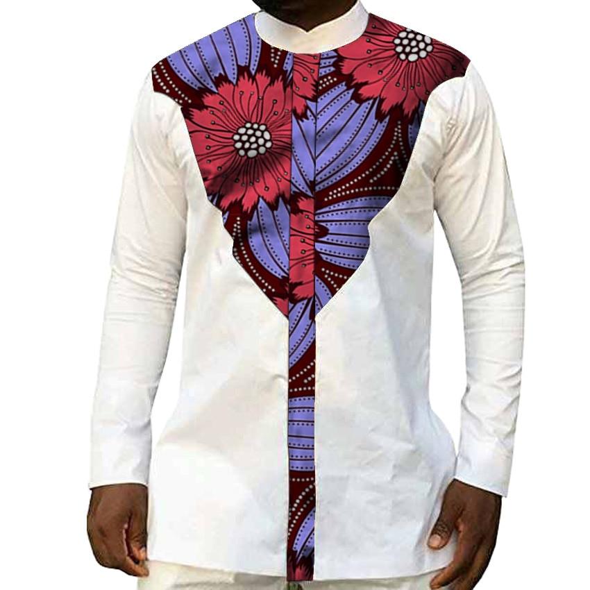 قمصان رجالية أفريقية ، قمصان رجالية أفريقية عصرية مع طباعة Dashiki ، قمصان مرقعة بالأبيض والشمع ، ملابس أفريقية مصنوعة حسب الطلب ، توصيل مباشر