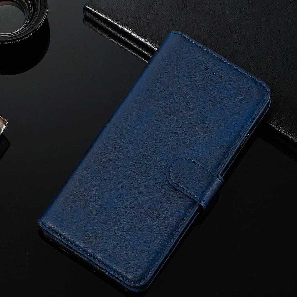 Funda abatible de lujo para Motorola Moto E6 E5 G8 G6 G7 Plus Z4 Play One Action Macro Retro Simple Cartera de Color liso con soporte E27D