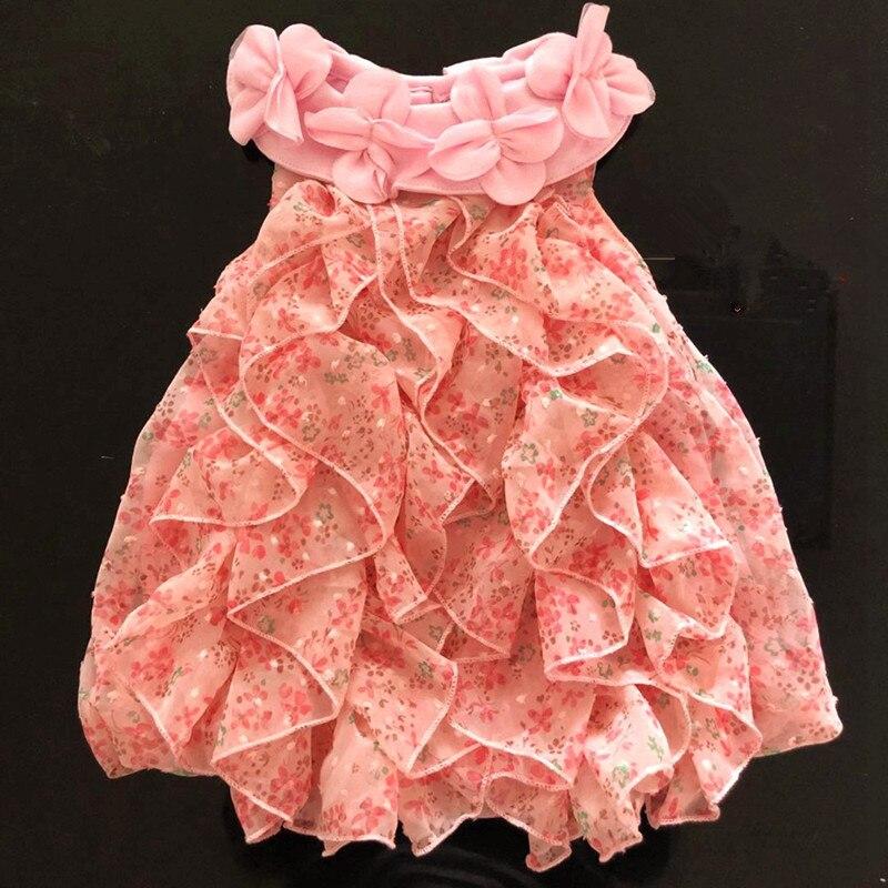 Moda Floral de Chiffon para niñas 2020 vestido de verano sin mangas vestidos de fiesta para Niñas Ropa