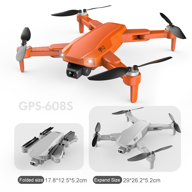 XKJ S608 GPS Drone 6K Dual HD Camera Professional Aerial Photography Brushless Motor Foldable Quadcopter RC Distance 3000M enlarge