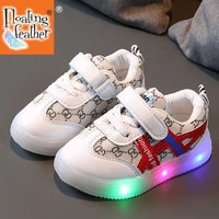 size 21 30 children led light luminous shoes boys girls kids glowing sport sneakers anti slip breathable mesh lighted baby shoes