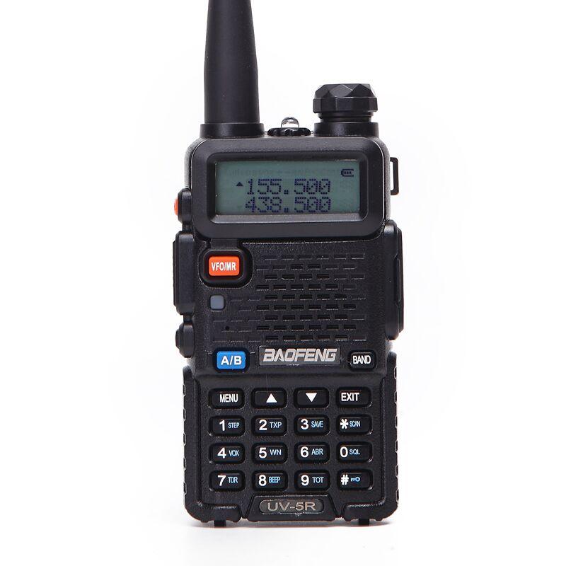 UV-5R BaoFeng walkie talkie em dois sentidos rádio cb versão de atualização baofeng uv5r 128CH 5W VHF UHF 136-174mhz & 400-520Mhz