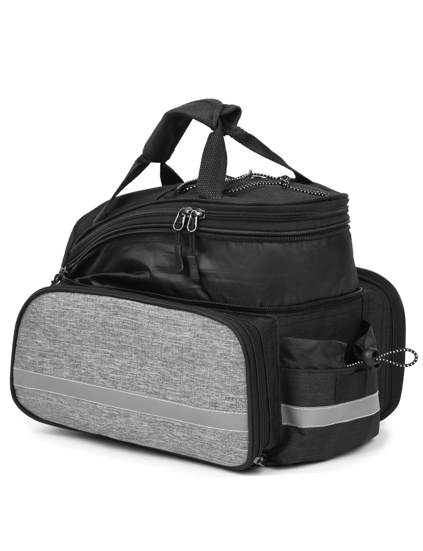 Lixada Bicycle Rear Seat Bag 13L Multifunctional Outdoor Cycling Rack Seat Bag Rear Trunk Pannier Backseat Bag Handbag Bag