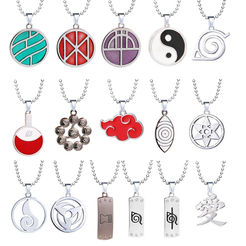 Gran oferta 15 estilos collar de Naruto con dije Ino-Shika-Chō jabalí-ciervo-mariposa Cadena de cuentas de Sabaku no Gaara colgantes joyas regalo