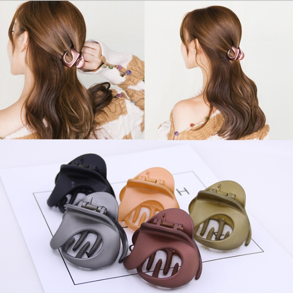 Candy Color Hair Clip Geometric Frosted Scrub Hair Claws Hair Clamp Barrettes Hair Crab Hair Accessories for Women Girls