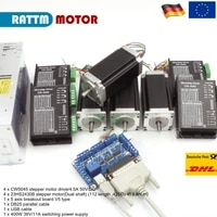 cnc controller kit 4 axis nema 23 stepper motor 425 oz in dual shaft 256 microstep motor driver cw5045