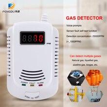 Détecteur de gaz Combustible enfichable autonome   Maison, LPG, gnl, charbon, naturel, détecteur de fuite de gaz, capteur dalarme vocale