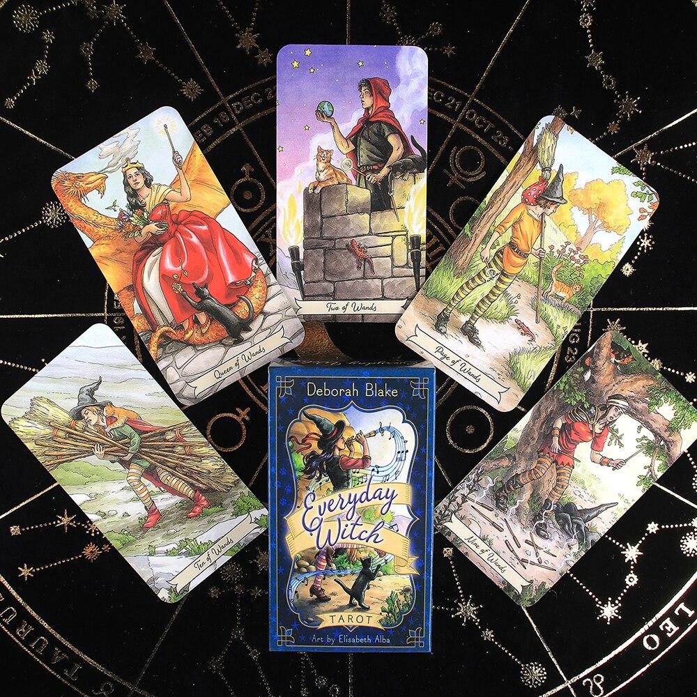 Ежедневные карты ведьмы Таро колода оракул Электронный гид 78 шт. английская версия ежедневные карты ведьмы Таро колода настольные карты