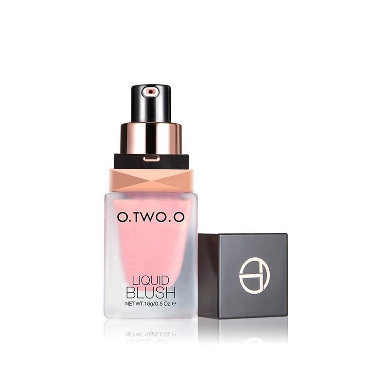 Maquillaje colorete líquido elegante colorete sedoso Color dura largo 4 colores Natural mejillas rubor cara maquillaje MKXJ nuevo