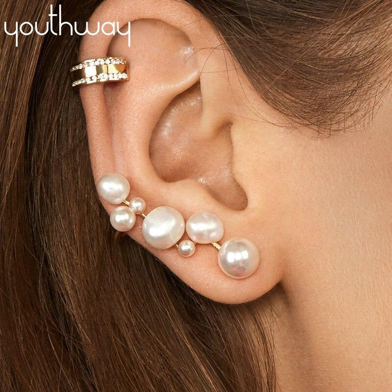 Baroque Natural fresh water pearls flower earrings Wedding Bride Irregular Pearl Stud Earrings Jewelry Gifts New Arrivals
