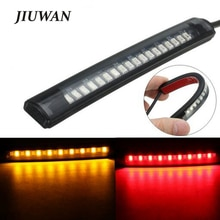 Universal Flexible 17 LED Motorrad Licht Streifen Schwanz Stopp Drehen Signal Licht Motorrad Bremslicht 8 Gelb 9 Rot led