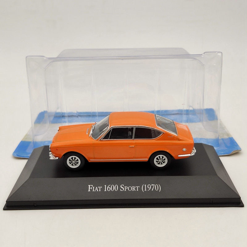 IXO 1/43 Fiat 1600 Sport 1970 Orange Diecast ModelsToys ، مجموعة إصدار محدود من السيارات