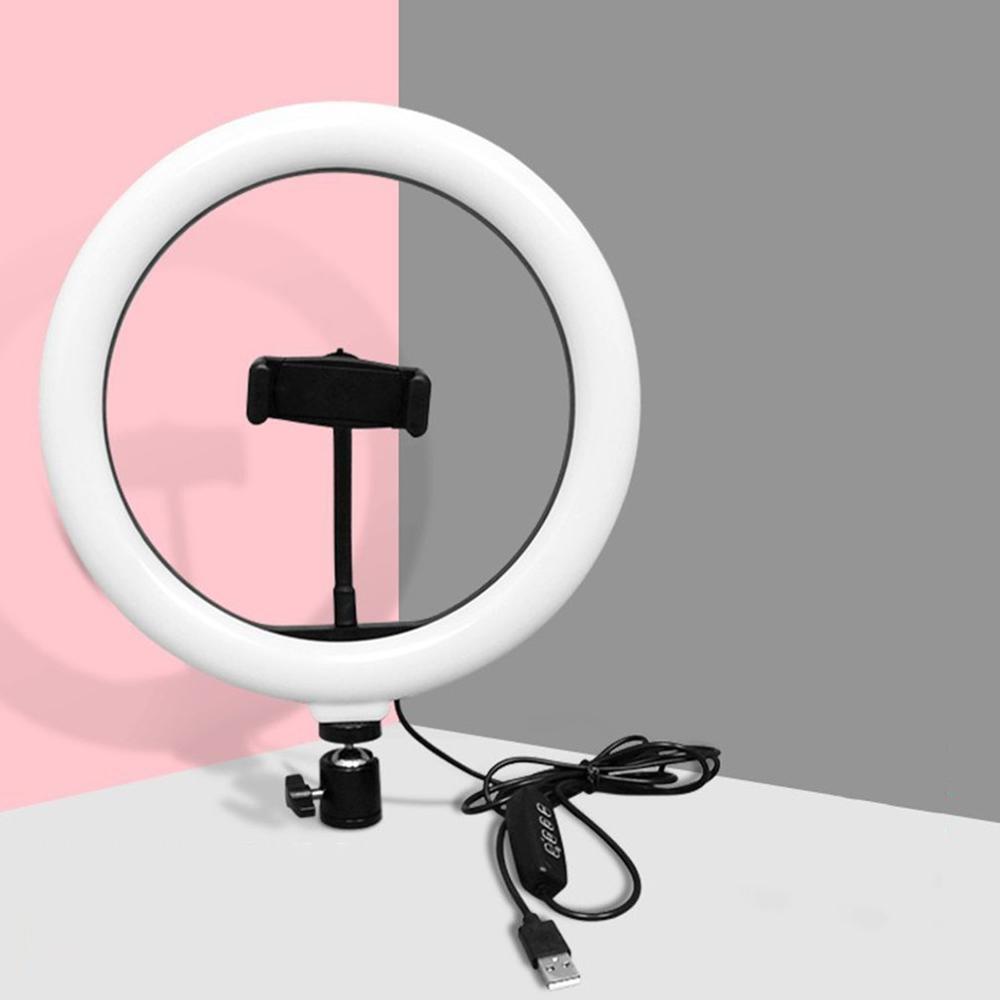 Anillo de 10 pulgadas de luz Led Tipo de mando lámpara de atenuación continua LED SMD Luz de relleno de belleza teléfono móvil luz en vivo sin radiación