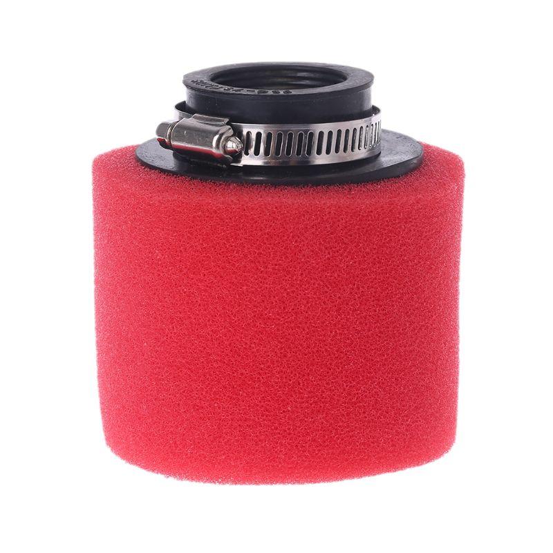 1 ud. Limpiador de cuello recto de doble esponja para filtro de aire de motocicleta roja 35/38/40/42/45/48mm