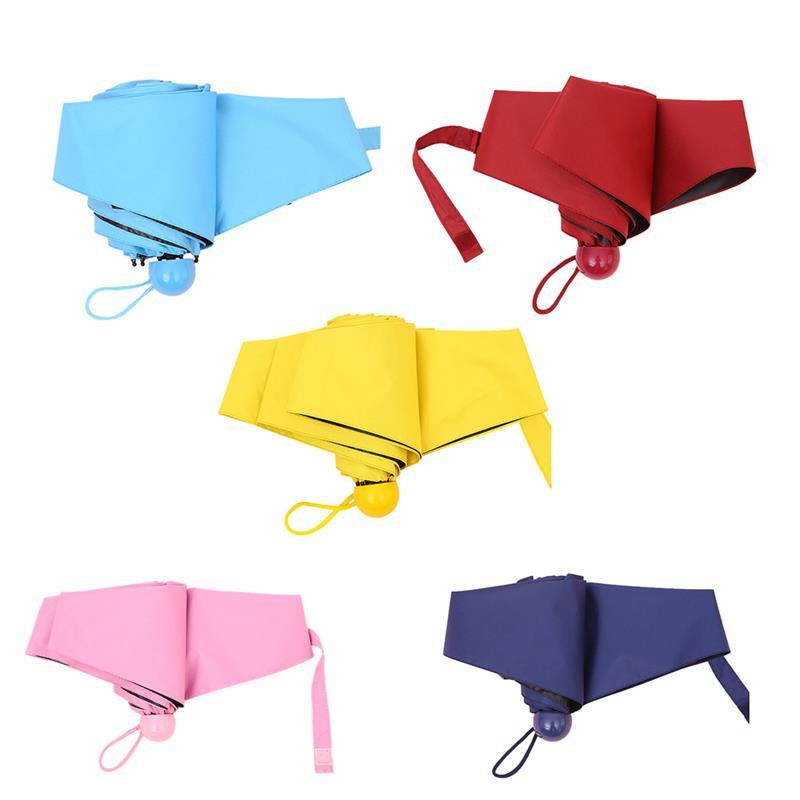 Зонтик 5 складной зонт мини-зонтик Карманный ветрозащитная Защита от солнца дождь зонтик для путешествий работы принадлежности на открытом...