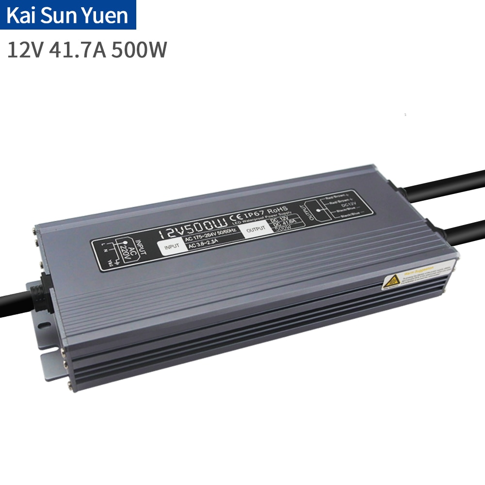 Manufacturer Direct LED Waterproof Power 12V41.6A500W Luminous Word LampStrip Security Monitoring Buried Lamp Lighting Project D