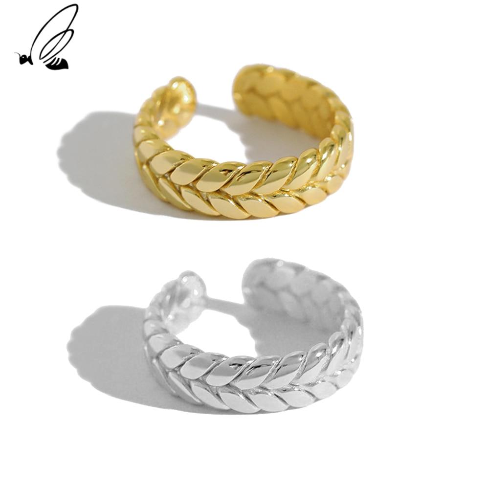 Серебряные дизайнерские открытые золотые кольца с изменяемым размером для женщин в готическом стиле