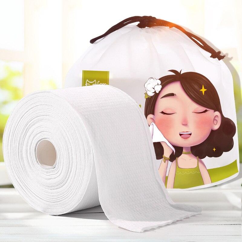 75 pces toalha de rosto descartável não-tecido tecido facial uma vez maquiagem toalhetes almofadas de algodão limpeza facial rolo de papel tecido maquiagem